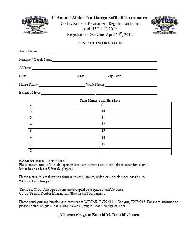 wtamu fraternity alpha tau omega holds 1st annual co ed softball tournament. Black Bedroom Furniture Sets. Home Design Ideas