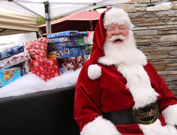 "Charity ""Breakfast With Santa"" At Westfield Valencia Town Center"